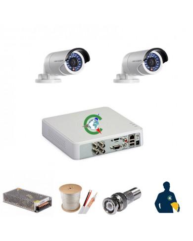 Trọn gói 2 mắt camera chất lượng cao Hikvision 2MB