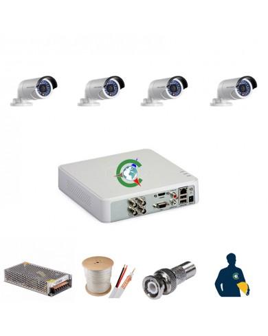 Trọn gói 4 mắt camera chất lượng cao Hikvision 1MB