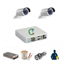 Trọn gói 2 mắt camera chất lượng cao Hikvision 1MB