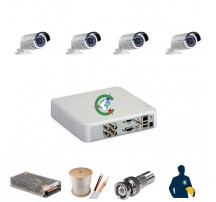 Trọn gói 4 mắt camera chất lượng cao Hikvision 2MB
