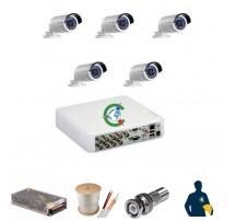 Trọn gói 5 mắt camera chất lượng cao Hikvision 1MB
