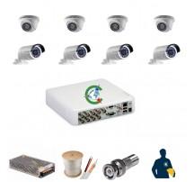 Trọn gói 8 mắt camera chất lượng cao Hikvision 1MB