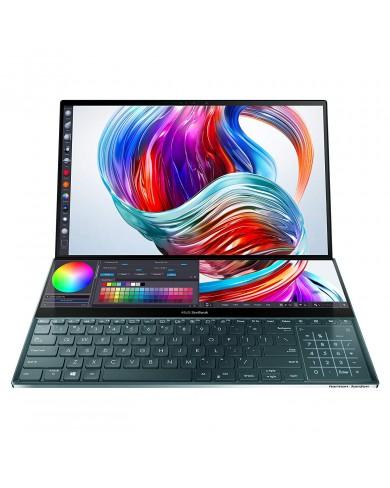 Laptop Asus Zenbook Duo UX482EG-KA166T (i5-1135G7/ 8GB/ 512GB SSD/ 14FHD, Touch/ MX450 2GB/ Win10/ Blue/ SCR_PAD/ Pen/ Túi)